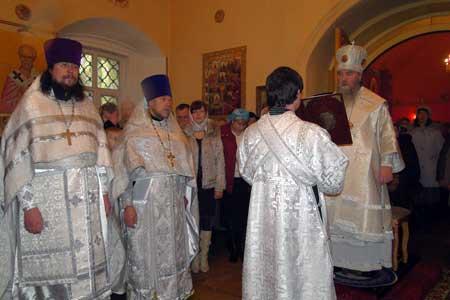 Освящение Вознесенского храма в селе Тархово Клинского благочиния