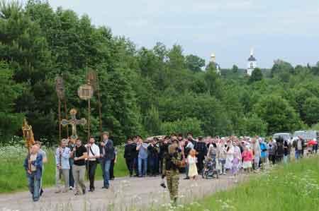 Крестный ход в Шипулино Клинского благочиния