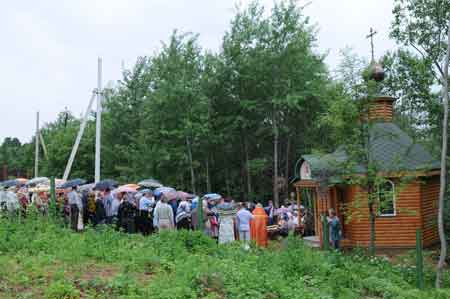 Место явления креста Господня в с. Шипулино Клинского района