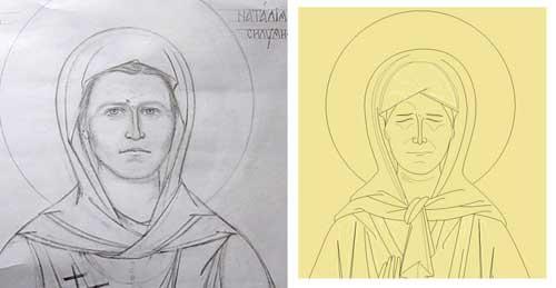 56 Как нарисовать святых поэтапно