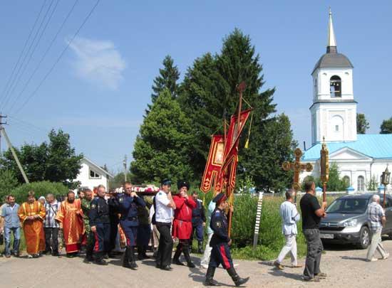 Крестный ход в Шипулине Клинского района