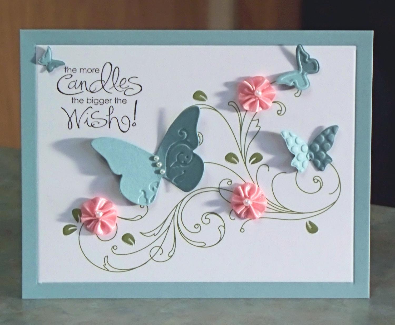 Открытки с днем рождения с бабочками своими руками
